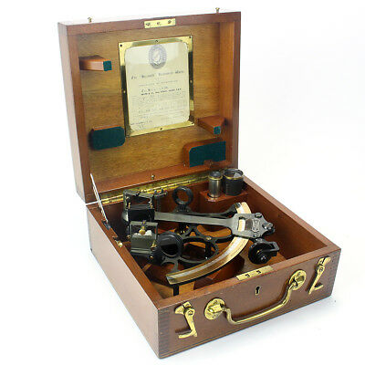 Vintage Hezzanith Sextant In Original Box Made in London 1950's