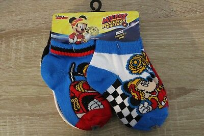 NEW Disney Mickey and the Roadster Racers Toddler Boys Socks 6 Pairs 2T-4T