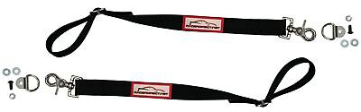 Racerdirect.net Drag Car Door Limit Strap Adjustable Limiting Straps Black