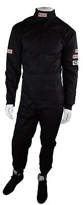 Rjs Racing Sfi 3-2A/1 New 1 Piece Racing Fire Suit Adult 2X Black Xxl
