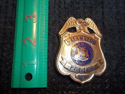 Absolute vintage michigan police badge kalamazoo