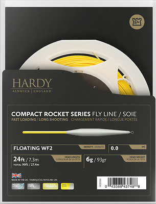 Hardy Compact Rocket Series Floating Fly Line - New Model for 2018 - SALE