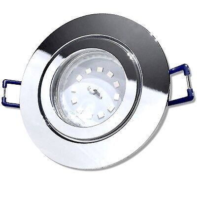 3x Step Dimmbar | 5W LED Bad Einbauleuchte Aqua44-R | Chrom | Warmweiss 3000k |