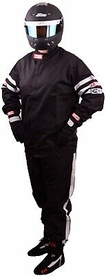 Fire Suit Racing Jacket & Pants Black Adult Xl Sfi 3-2A/1 Rjs Racing