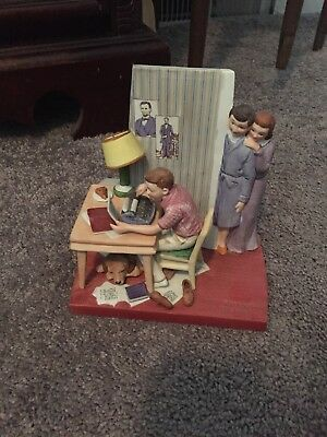 Norman Rockwell 'The Student' Figurine 1980 The American Family Series