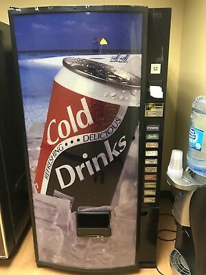 Front Soda Vending Machine Pepsi/Coke W/Bill Acceptor. Accepts coins only