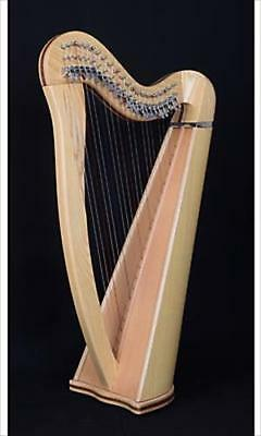 EMS Heritage 22 String Student Celtic Harp In Ash, Metal Semitone Levers **NEW**
