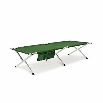 Relaxdays plegable cama con bolsillos laterales, Unisex, Folding, verde, small