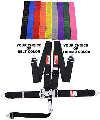"Your Pick Of Thread & Belt Color 3"" Latch & Link 5 Point Floor Racing Harness"