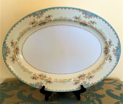 Antique 1930 Noritake Hand Painted Large Serving Platter - LIKE NEW - RARE