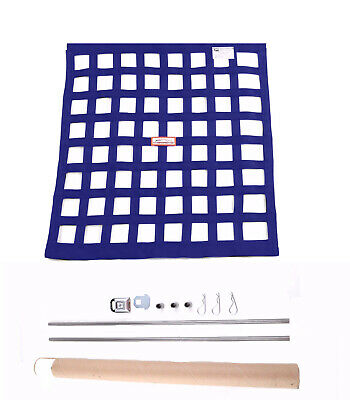 Sfi 27.1 Square Ribbon Safety Window Net With Installation Hardware Kit Blue