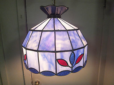 Gorgeous Vintage Stained Glass Ceiling Light - Great Condition