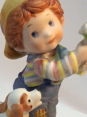 Vintage Avon Mother's Day 1983 Little Things Mean A Lot Porcelain Figurine Gift!