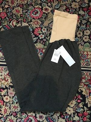 motherhood maternity gray leggings large