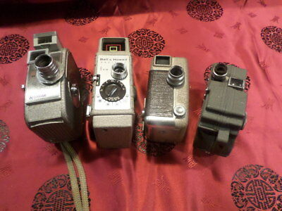 lot of 4 8mm movie cameras.