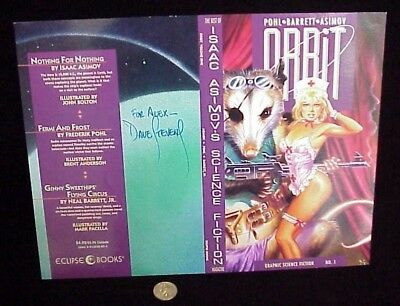 Rare Unfolded Orbit #1 Signed Dave Stevens Cover 1990