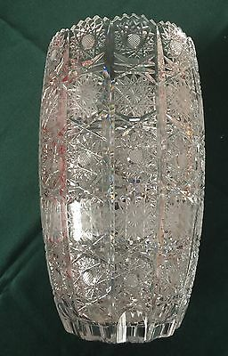 High Quality ABP American Brilliant Period   Large Cut Glass Vase.