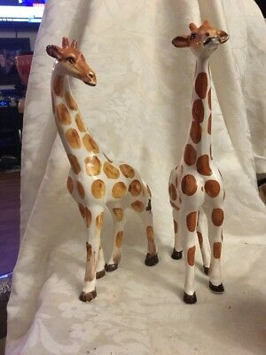 PAIR of Vintage Ceramic Giraffe's  Clearly Marked-Made In Japan.