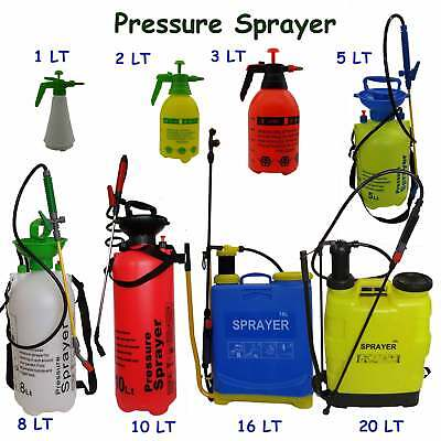Garden Spray Pressure Bottle Manual Weed 20 16 10 8 5 3 2 1 LTR Pump Chemical