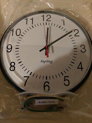 Round Sapling SAA Series Clock 24 volts requires Sapling master system to operat