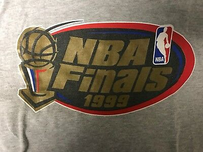 Vintage 1999 NBA FINALS Tshirt New York Knicks vs San Antonio SPURS size XL