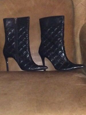Lot of 6 pair of Women's Heeled Shoes, Boots, & Wedges. Sizes Ranging from 9, 9.