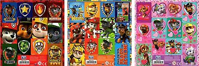 3 x Official PAW PATROL Sticker Sheets Contains 36 Stickers in Total