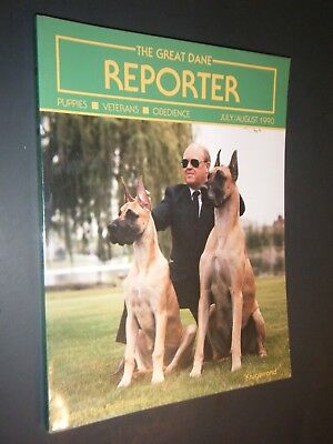 The Great Dane Reporter July / Aug 1990 Puppies Veterans & Obedience Photographs