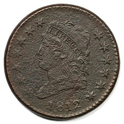1812 S-288 Lg Date Classic Head Large Cent Coin 1c