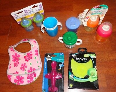 Sippy Cup and Weaning Bundle Munchkin Cath Kidston Tommee Tippee Most New!!