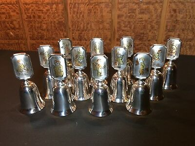 Reed & Barton First Hummel Silver Plated Bell Collection of 12   FREE SHIPPING
