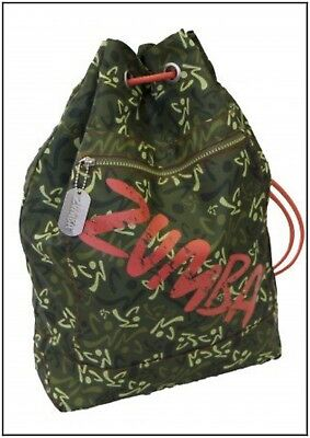 Zumba JUMBO Troop TOTE BAG-Gym-Travel-Backpack Army Green DURABLE fr.Convention