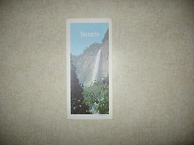 Vintage Aaa Map Of  Yosemite  National Park   And   Part   Of San Joaquin Valley