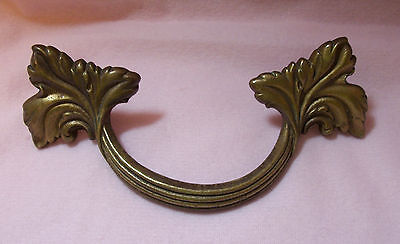 Vintage/Antique FRENCH PROVINCIAL BRASS DRAWER PULL Handle 5 1/2""