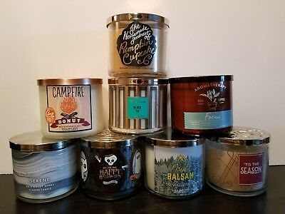 Bath & Body Works 3 Wick Scented Candles