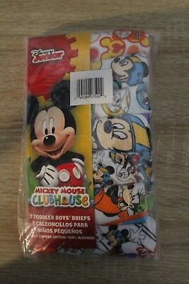 NEW Disney's Mickey Mouse Clubhouse Boys Briefs 7 Pack Underwear