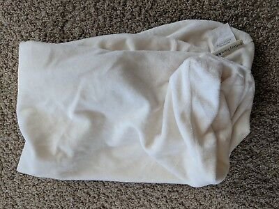 Pottery Barn Kids EUC Ivory Luxe Chamois Changing Pad Cover