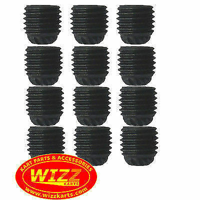 Set of 12  M6 x 1 Grub Screws for Axle Bearings FREE POSTAGE WIZZ KARTS
