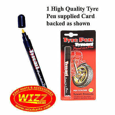 White Tyre Pen Paint in a Pen Outline Raised Letters FREE POSTAGE WIZZ KARTS