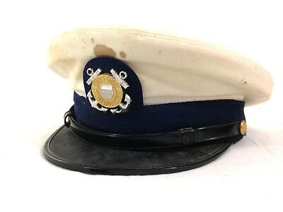 Vintage US Military 1950's USCG Coast Guard Hat #A21