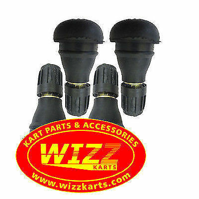 Pack of 4 Short Wheel Valves High Quality  FREE POSTAGE WIZZ KARTS