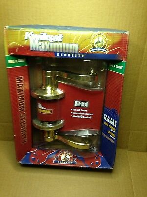 Kwikset Maximum Security 200Ll Left/right Hall & Closet Bright Brass Door Lever