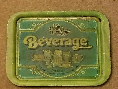 The Warm and Wonderful Beverage Comany Metal Serving Tray (RUSTIC!!)