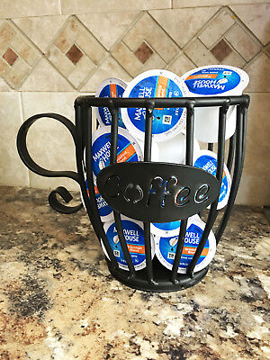 Amish Wrought Iron Coffee, Creamer, K-Cup, or Expresso Pod holder