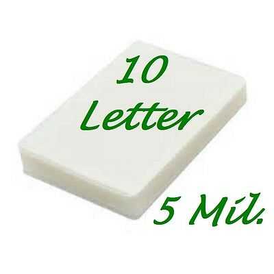 Letter 10 Pack Laminating Laminator Pouches Sheets 5 mil 9 x 11.50