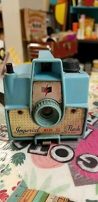 Vintage Turquoise Imperial Mark XII Flash Camera