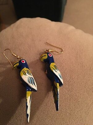 Colorful Parrot Earrings