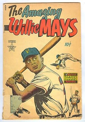 The Amazing Willie Mays  NN  Famous Funnies Publication Fr/GD