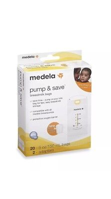 Medela Pump and Save Breastmilk Bags 20 Count New FREE SHIPPING