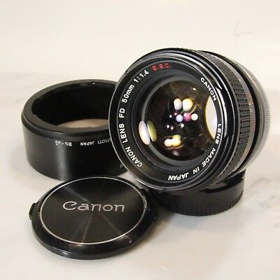 Canon FD 50mm f/1.4 Lens SSC FAST Manual Prime Lens FD, See Oil on Blades (C950)
